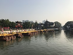 Qinhuaihe River from Wendeqiao Bridge (east) 4.jpg