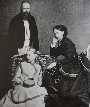 Olga Nikolaevna of Russia - King Charles I of Württemberg and Queen Olga with their  foster daughter Grand Duchess Vera of Russia