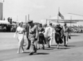 Queensland State Archives 2983 Her Majesty Queen Elizabeth II departingQueensland Brisbane Airport 18 March 1954.png