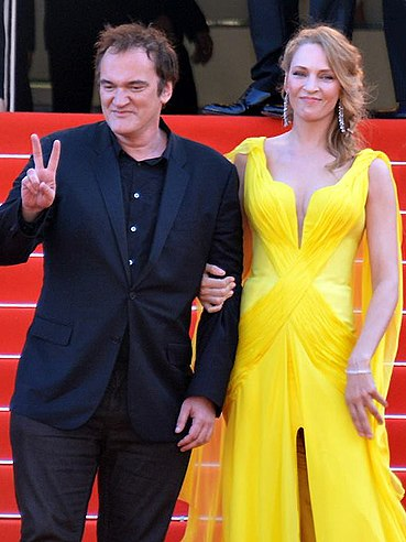 Thurman with Quentin Tarantino attending Pulp Fiction's 20th anniversary tribute at the 2014 Cannes Film Festival Quentin Tarantino Uma Thurman Cannes 2014 2.jpg