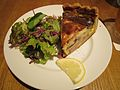 Quiche with sausage and salad.jpg