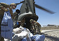 RAF Chinook Helicopter Delivering Mail to Troops in Afghanistan MOD 45156181.jpg