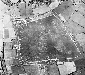 RAF Matlaske - Aerial photograph of Matlaske airfield looking north, Matlaske village is at the top, 27 June 1946.