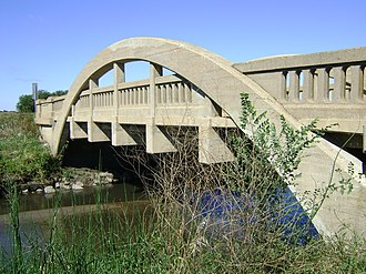 National Register of Historic Places listings in Boone County, Iowa - Image: Rainbow bridge on Lincoln Highway north of Ogden, IA