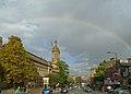Rainbow over Great Horton Road, Bradford (Taken by Flickr user 3rd October 2012).jpg