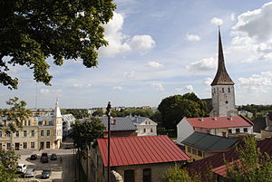 Rakvere Estonia View over the city.JPG