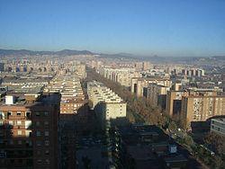 Rambla de Prim, seen from Hotel Princess.jpg