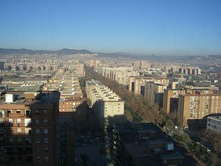 Neighbourhood of Barcelona in Barcelona, Catalonia, Spain