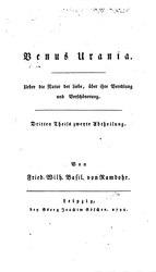 Basilius von Ramdohr: Venus Urania