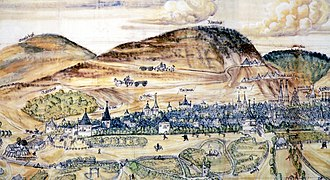 Rammelsberg - Imperial City of Goslar and Rammelsberg, 1574 depiction