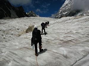 Rathong Glacier - Image: Rathong glacier