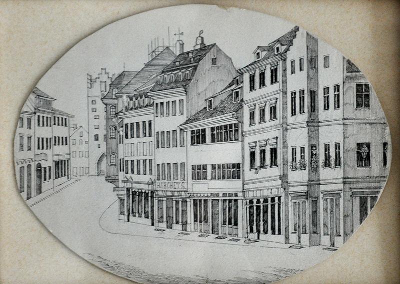File:Ravensburg Kirchstraße Gespinstmarkt 19Jh.jpg