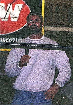 Rick Rude - Rude at an Extreme Championship Wrestling television taping in October 1997