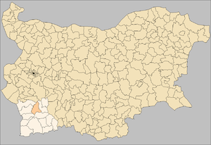 Razlog Municipality - Image: Razlog Municipality Bulgaria map