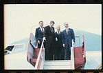 Reagan, McEwen, Kindness and Gradison exit Air Force One.jpg