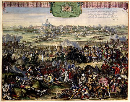 Recapture of Naarden by William of Orange in 1673 Recapture of Naarden by William III in 1673 -Belegeringe der Stadt Naerden (Romeyn de Hooghe).jpg