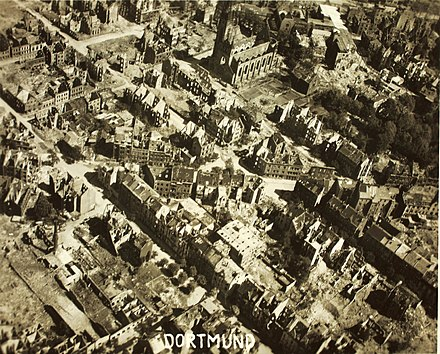 Dortmund city center in April 1945. Reconnaissance Photo Aerial View Dortmund.jpg