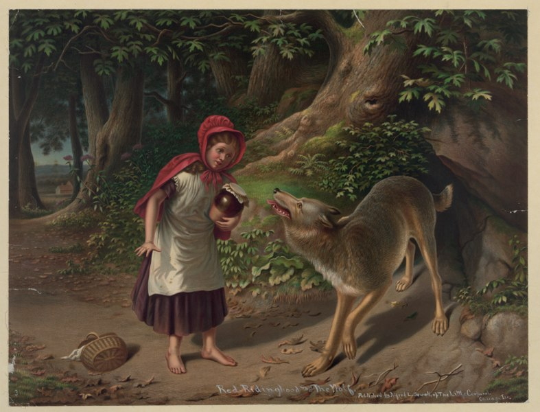 File:Red-Ridinghood and the wolf LCCN2003674393.tif