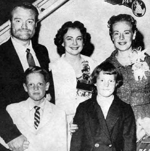 Red Skelton and family circa 1957