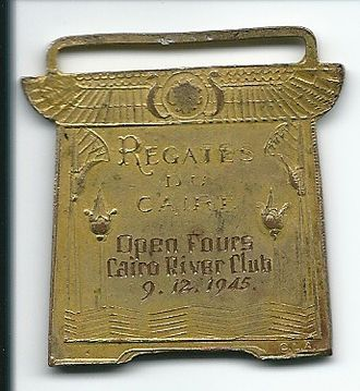 Maadi Cup - Regates Du Caires - Cairo River Club - Open Fours Rowing Medal - 9 December 1945