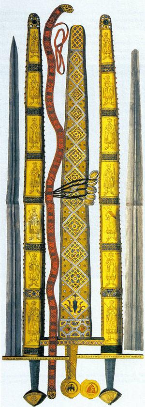 Imperial Sword - Image: Reichsschwert stich mit zeremonienschwert