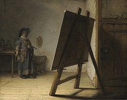 Рембрандт: Artist in his studio