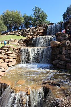 "The ""restored Falls"" of the Wichita River in Wichita Falls, Texas, off Interstate 44"