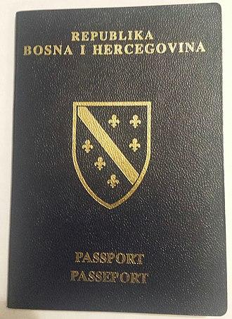 Republic of Bosnia and Herzegovina - Image: Republic of Bosnia and Herzegovina passport (cover)