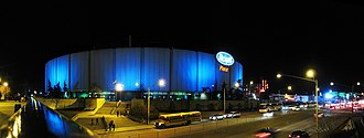 Northlands Coliseum - Rexall Place at night