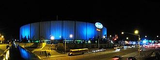 Northlands Coliseum - Northlands Coliseum at night