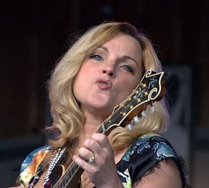 Rhonda Vincent - Rhonda Vincent on the Watson Stage, MerleFest, 2010.  Photo by Forrest L. Smith, III.