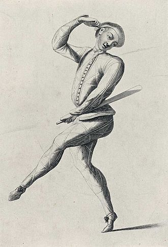 Pantomime - John Rich as Harlequin, c. 1720