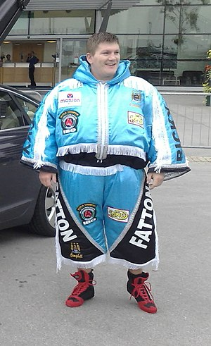 Ricky Hatton outside Manchester City Football ...