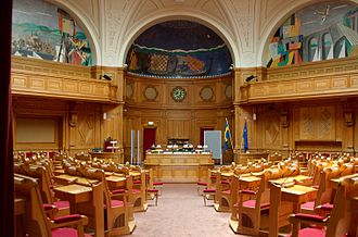 Riksdag - The former second chamber, nowadays used for committee meetings.