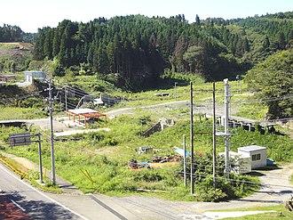 Rikuzen-Minato Station - Rikuzen-Minato Station after the 2011 earthquake