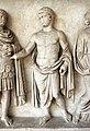 Rilievo di altare monumentale con processione sacrficale (personaggi della gens claudia), 42-43 dc, dalla zona di s. vitale-mausoleo di galla placidia 03.jpg