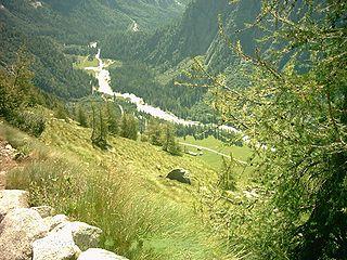 Sarca river in Italy