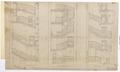 Ritning västra kommunikationstrappan, Hallwylska palatset, 1894 - Hallwylska museet - 102155.tif
