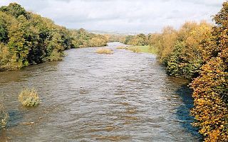 River Wye river in Wales and England