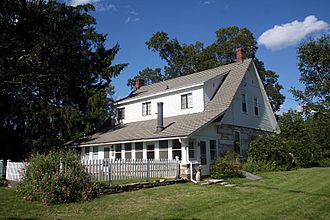 Shaftsbury, Vermont - Robert Frost Stone House Museum, home of the poet Robert Frost from 1920 to 1929