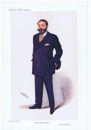 "Sir Robert Houston, 1st Baronet - Caricature of Robert Houston by ""Spy"" in Vanity Fair, 14 June 1911"