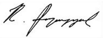 Robert Kocharyan - Image: Robert Kocharyan signature