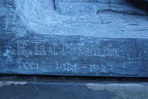 """R. Tait McKenzie - R Tait McKenzie's signature on """"The Call"""""""