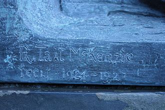 "R. Tait McKenzie - R Tait McKenzie's signature on ""The Call"""