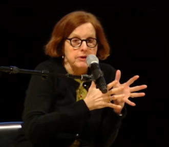 Roberta Smith - Smith speaking at the Brooklyn Museum, 2014