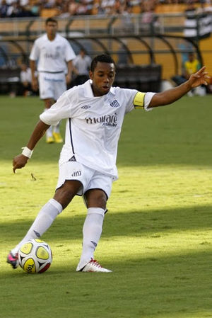 Robinho - Robinho playing for Santos in the 2010 season
