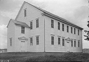 Franklin Hooper - Rockingham Meeting House, Vermont, church of his forefathers