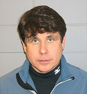 Mug shot of Rod Blagojevich.