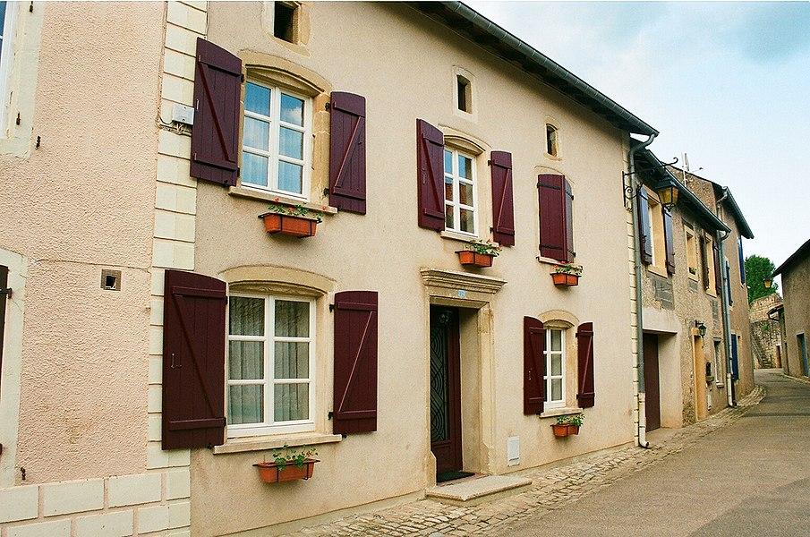 """Rodemack, the street """"Rue de Four Banal"""""""