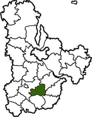 Ракитнянский район на карте